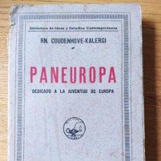 Militaria: PANEUROPA. DEDICADO A LA JUVENTUD DE EUROPA. COUDENHOVE-KALERGI, RN 1910. Lote 230506645