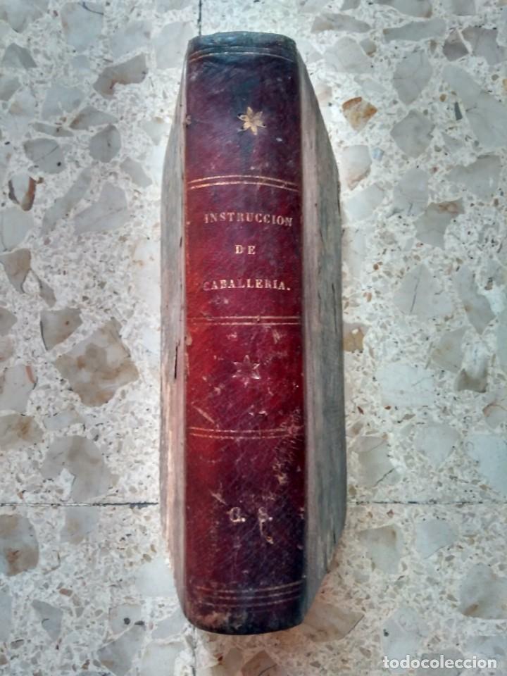 INSTRUCCIÓN DE CABALLERÍA - DIRECCIÓN GENERAL DEL ARMA - 2ª EDICIÓN, 1872 - MEDIA PIEL (Militar - Libros y Literatura Militar)