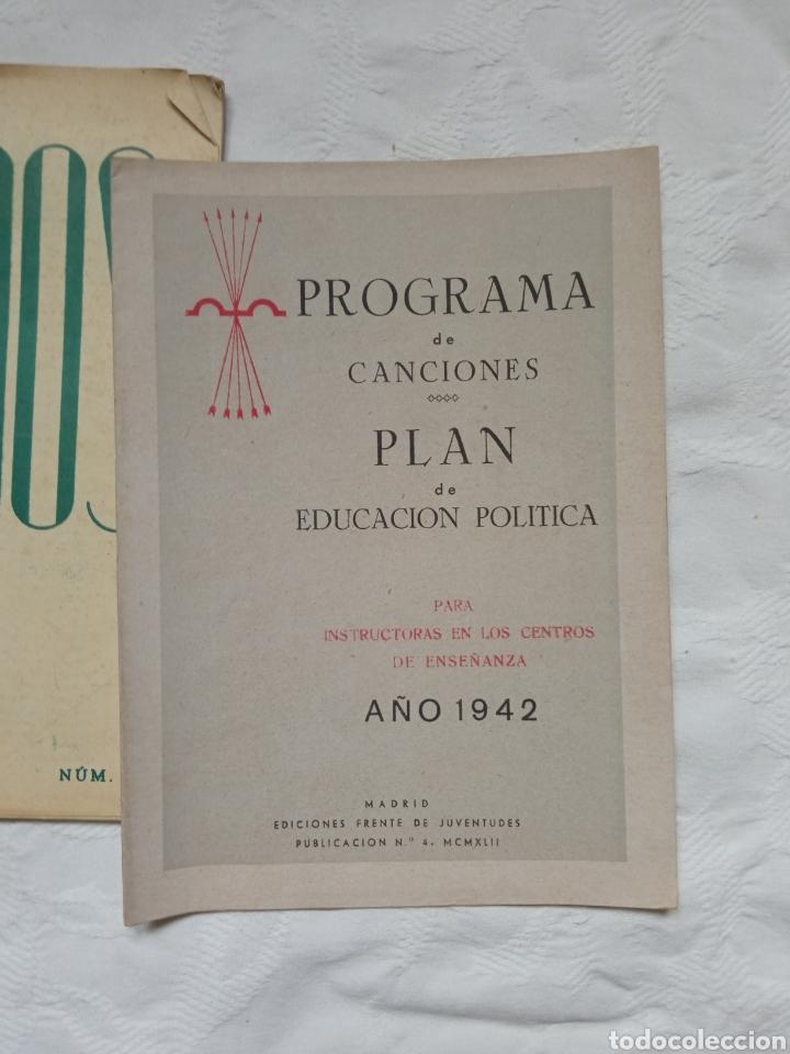 Militaria: Lote libretos falange post guerra civil.falangista.frente de juventudes.franco.nacional.ejercito.mil - Foto 2 - 232680535