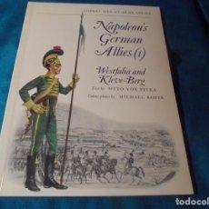 Militaria: NAPOLEON´S GERMAN ALLIES (I) . OTTO VON PIVKA. OSPREY, 1ª EDC. 1975. Lote 233656995