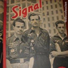 Militaria: SIGNAL. REVISTA QUINCENAL ILUSTRADA DE LA II GUERRA MUNDIAL. 54 NºS. EN ESPAÑOL. AÑOS 1941-44.. Lote 233823605