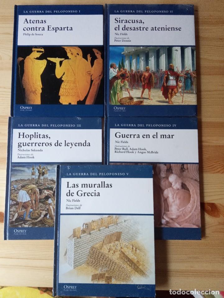 LOTE 5 LIBROS OPREY: LA GUERRA DEL PELOPONESO. VV.AA. MILITAR (Militar - Libros y Literatura Militar)