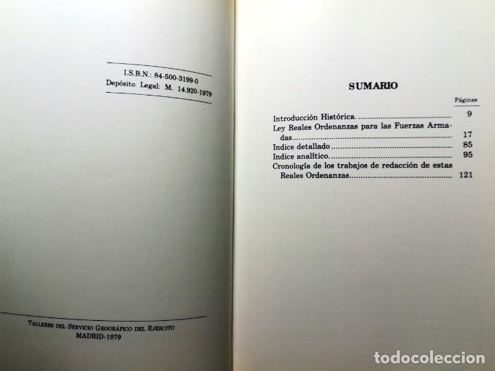 Militaria: REALES ORDENANZAS PARA LAS FUERZAS ARMADAS 1979 TAPA DURA PRIMERA EDICION 128 PAGINAS - Foto 4 - 235536060