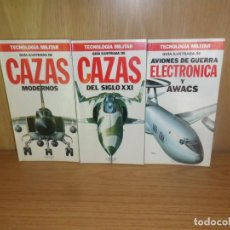 Militaria: CAZAS MODERNOS + CAZAS DEL SIGLO XXI + AVIONES DE GUERRA ELECTRONICA Y AWACS DISPONGO DE MAS LIBROS. Lote 235897920