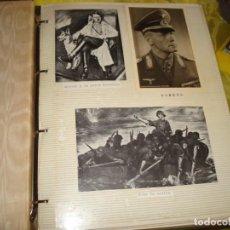 Militaria: ALBUM DE RECORTES DE PRENSA HECHO A MANO : HITLER. ALEMANIA NAZI. COMPLETO. Lote 239452745