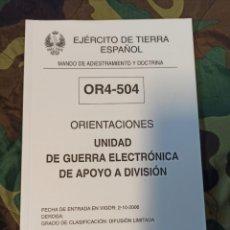 Militaria: UNIDAD DE GUERRA ELECTRÓNICA DE APOYO A DIVISIÓN. Lote 239994330