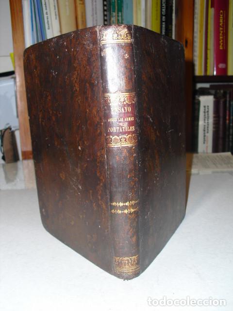1858 ENSAYO TEORICO-PRACTICO SOBRE LAS ARMAS PORTÁTILES CORREA Y MARTINEZ DE VIERGOL (Militar - Libros y Literatura Militar)