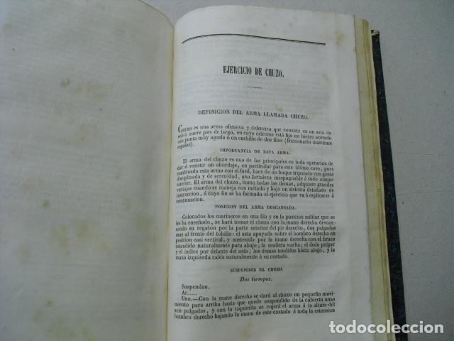 Militaria: 1852 EJERCICIOS PARA LA INSTRUCCION MILITAR DE LA MARINERIA DE LOS BUQUES DE GUERRA TGAL. ARMERO - Foto 5 - 243896900