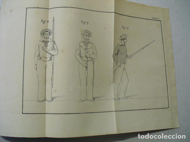 Militaria: 1852 EJERCICIOS PARA LA INSTRUCCION MILITAR DE LA MARINERIA DE LOS BUQUES DE GUERRA TGAL. ARMERO - Foto 7 - 243896900