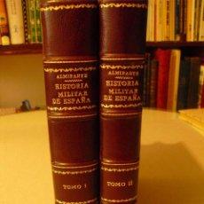 Militaria: 1923 BOSQUEJO DE LA HISTORIA MILITAR DE ESPAÑA GENERAL ALMIRANTE OBRA COMPLETA 4 TOMOS EN 2 VOLUMEN. Lote 245448110