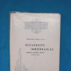 Militaria: RECUERDOS IMBORRABLES. - ANNUAL MONTE ARRUIT 1921-1971 - VICENTE PÉREZ DE SEVILLA. Lote 245830950