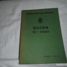 Militaria: GUION TIRO Y TOPOGRAFIA.PRIMER CICLO.INSTRUCCION MILITAR ESCALA DE COMPLEMENTO 1978. Lote 246137455