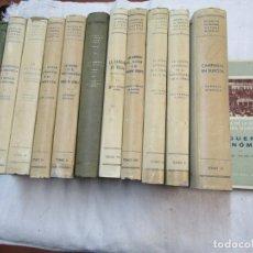 Militaria: CARRERO BLANCO, KINDELÁN, AZNAR - HISTORIA DE LA SEGUNDA GUERRA MUNDIAL 12 TOMOS EDI IDEA 1941/48 +. Lote 248608305