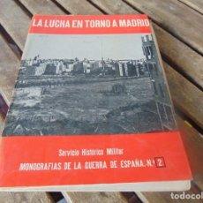 Militaria: MANOGRAFIAS DE LA GUERRA CIVIL SERVICIO HISTORICO MILITAR LA LUCHA TORNO A MADRID Nº 2. Lote 254428475