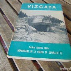 Militaria: MANOGRAFIAS DE LA GUERRA CIVIL SERVICIO HISTORICO MILITAR VIZCAYA Nº 6. Lote 254428855