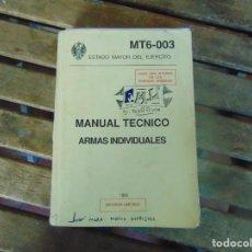 Militaria: MANUAL TECNICO MORTEROS ARMAS INDIVIDUALES MT6-003. ESTADO MAYOR DEL EJERCITO. Lote 254430750