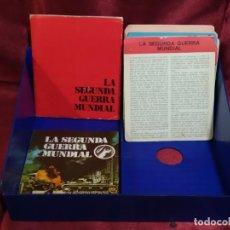 Militaria: LA SEGUNDA GUERRA MUNDIAL DE ED. SAPE 1979. CLASIFICADOR ORIGINAL, SEPARADORES Y 95 FICHAS. Lote 254504450