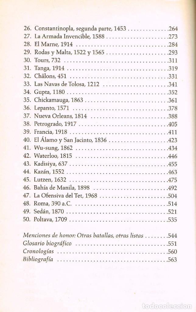 Militaria: 500 Batallas que cambiaron el mundo (Wiliam Weir) ver indice con la relación de las 50 batallas - Foto 3 - 256048525