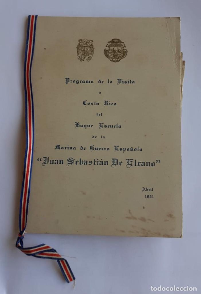 LIBRILLO Y PLANO DEL JUAN SEBASTIAN EL CANO, VIAJE DE 1951 (Militar - Libros y Literatura Militar)