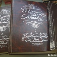 Militaria: ESPECTACULAR COLECCION EL EJERCITO Y LA ARMADA, DE MANUEL GIMENEZ GONALEZ 1862, FACSIMIL DE 1982. Lote 258501170