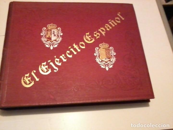 EL EJERCITO ESPAÑOL COLECCIÓN DE FOTOGRAFÍAS INSTANTÁNEAS 288 AUTOTIPIAS, 1896 (Militar - Libros y Literatura Militar)