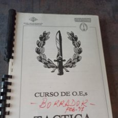 Militaria: CURSO OPERACIONES ESPECIALES TÁCTICA 1997. Lote 263158830