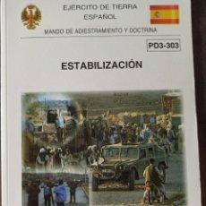 Militaria: MANUAL ESTABILIZACIÓN ZONA DE OPERACIONES. Lote 263159320
