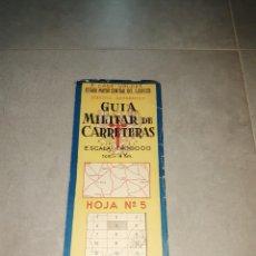 Militaria: MILITAR. GUÍA MILITAR DE CARRETERAS. ESCALA 1 A 400000, HOJA Nº5, LA RIOJA, CASTILLA LEÓN, ARAGÓN. Lote 265659494