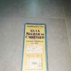 Militaria: MILITAR. GUÍA MILITAR DE CARRETERAS. ESCALA 1 A 400000, HOJA Nº8, MADRID, CASTILLA LEÓN, LA MANCHA. Lote 265659649