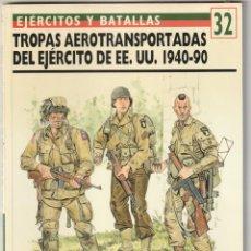Militaria: Nº 32 EJERCITOS Y BATALLAS. OSPREY MILITARY TROPAS AEROTRANSPORTADAS DEL EJERCITO EE.UU,1940-49. Lote 269142868