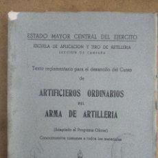 Militaria: ARTIFICIEROS ORDINARIOS DE ARTILLERIA 1960. Lote 269938443