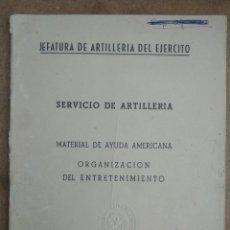 Militaria: MATERIAL DE AYUDA AMERICANA ORGANIZACION DEL ENTRETENIMIENTO. Lote 269939193