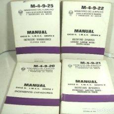 Militaria: 4X MANUAL INGENIEROS ZAPADORES 1973-DESTRUCCIONES RADIOS-MINISTERIO DEL EJERCITO-GRUPO I II-MILITAR. Lote 270622923