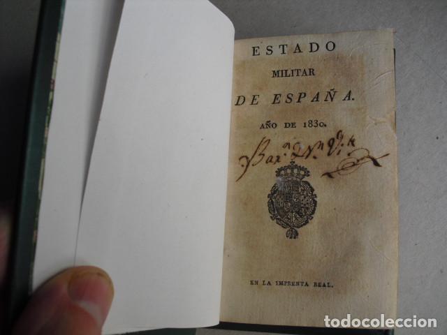 Militaria: 1830 ESTADO MILITAR DE ESPAÑA - Foto 2 - 272042003