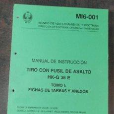 Militaria: MANUAL DE INSTRUCCIÓN TIRO CON FUSIL DE ASALTO HK-G36 E TOMO I. Lote 274196328
