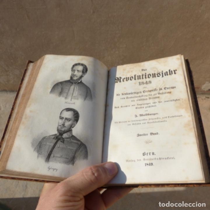 Militaria: Antiguo libro das revolutionsjahr , la revolucion de 1848 primera edicion 1849 , - Foto 7 - 274204133