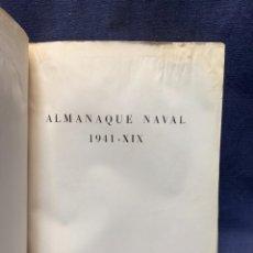 Militaria: LIBRO ALMANAQUE NAVAL 1940 MINISTERIO MARINA DE ITALIA TRADUCCION CARLO BOSELLI MARINAS MUNDO 27X20C. Lote 275532763