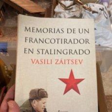 Militaria: LIBRO MEMORIAS DE UN FRANCOTIRADOR EN STALINGRADO. Lote 275606373