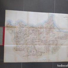 Militaria: MAPA MILITAR GUERRA DE MARRUECOS ZONA ORIENTAL. 1923. EXCELENTE ESTADO. 1.10X0.8 METROS. Lote 276114708