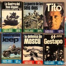 Militaria: LOTE DE 9 LIBROS MILITARES. COLECCIÓN SAN MARTÍN HISTORIA DEL SIGLO DE LA VIOLENCIA. CAMPAÑAS, ARMAS. Lote 276131438