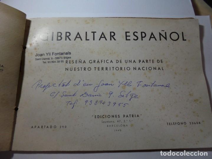 Militaria: magnifico libro gibraltar español reseña grafica de una parte de nuestro territorio nacional de 1940 - Foto 2 - 276222633