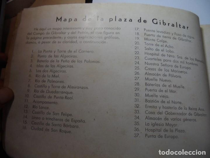 Militaria: magnifico libro gibraltar español reseña grafica de una parte de nuestro territorio nacional de 1940 - Foto 5 - 276222633