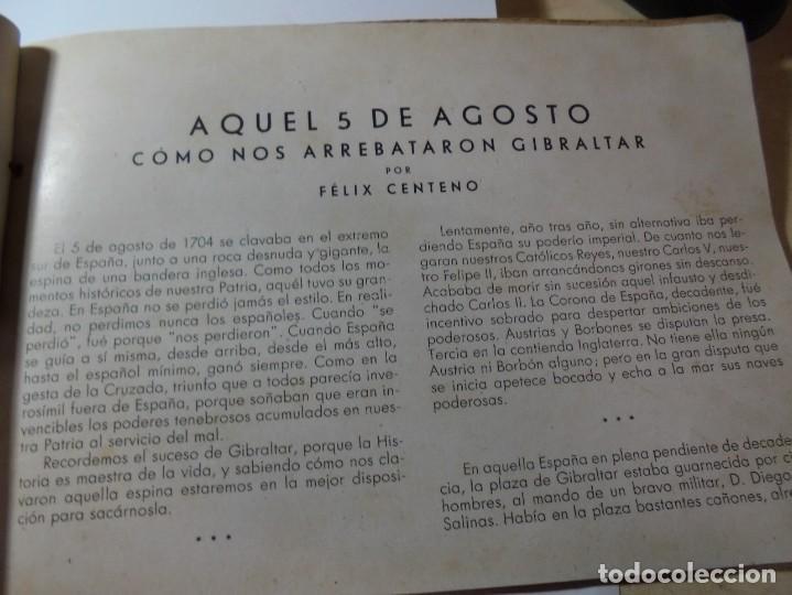 Militaria: magnifico libro gibraltar español reseña grafica de una parte de nuestro territorio nacional de 1940 - Foto 6 - 276222633