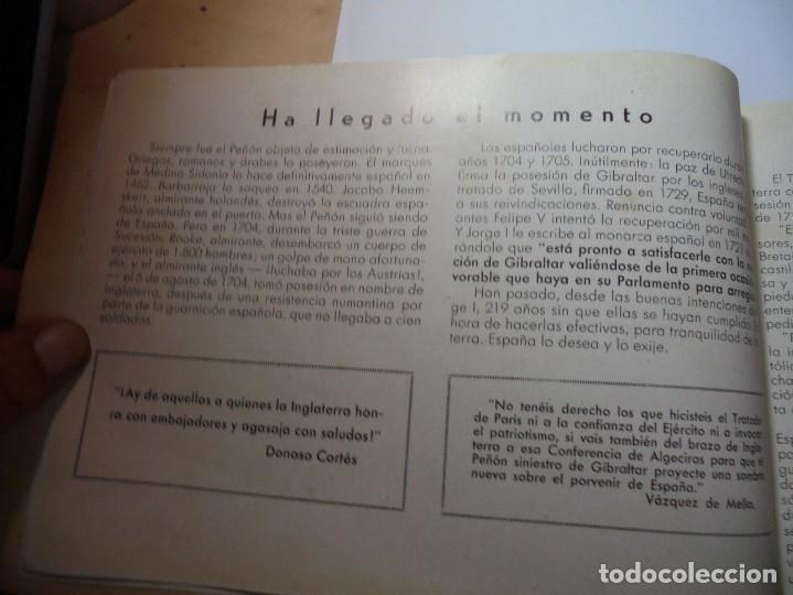 Militaria: magnifico libro gibraltar español reseña grafica de una parte de nuestro territorio nacional de 1940 - Foto 9 - 276222633