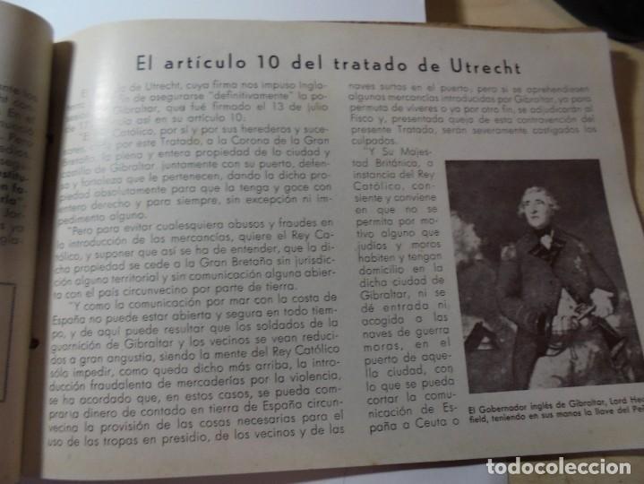 Militaria: magnifico libro gibraltar español reseña grafica de una parte de nuestro territorio nacional de 1940 - Foto 10 - 276222633