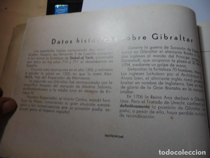 Militaria: magnifico libro gibraltar español reseña grafica de una parte de nuestro territorio nacional de 1940 - Foto 13 - 276222633