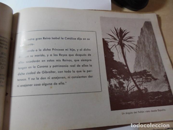 Militaria: magnifico libro gibraltar español reseña grafica de una parte de nuestro territorio nacional de 1940 - Foto 14 - 276222633