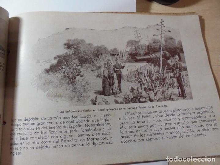 Militaria: magnifico libro gibraltar español reseña grafica de una parte de nuestro territorio nacional de 1940 - Foto 16 - 276222633