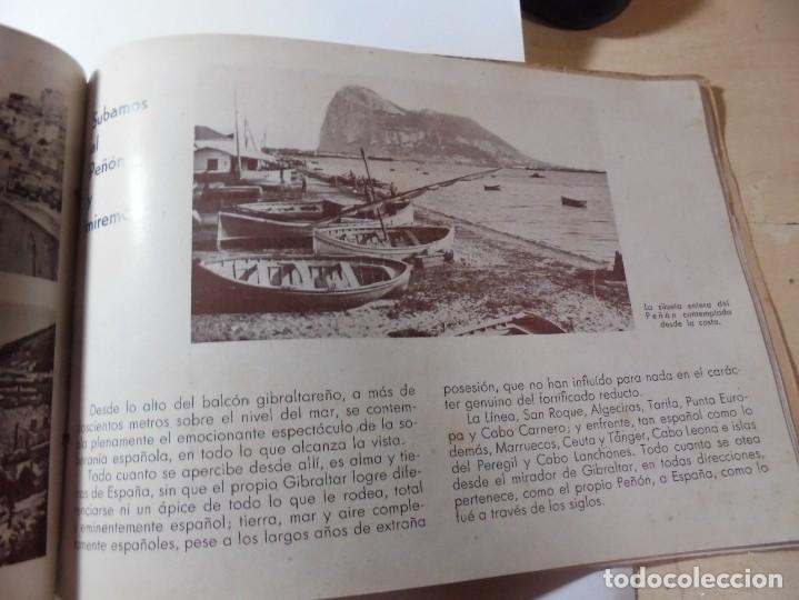 Militaria: magnifico libro gibraltar español reseña grafica de una parte de nuestro territorio nacional de 1940 - Foto 28 - 276222633
