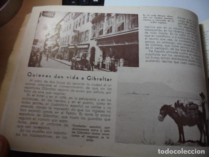Militaria: magnifico libro gibraltar español reseña grafica de una parte de nuestro territorio nacional de 1940 - Foto 29 - 276222633